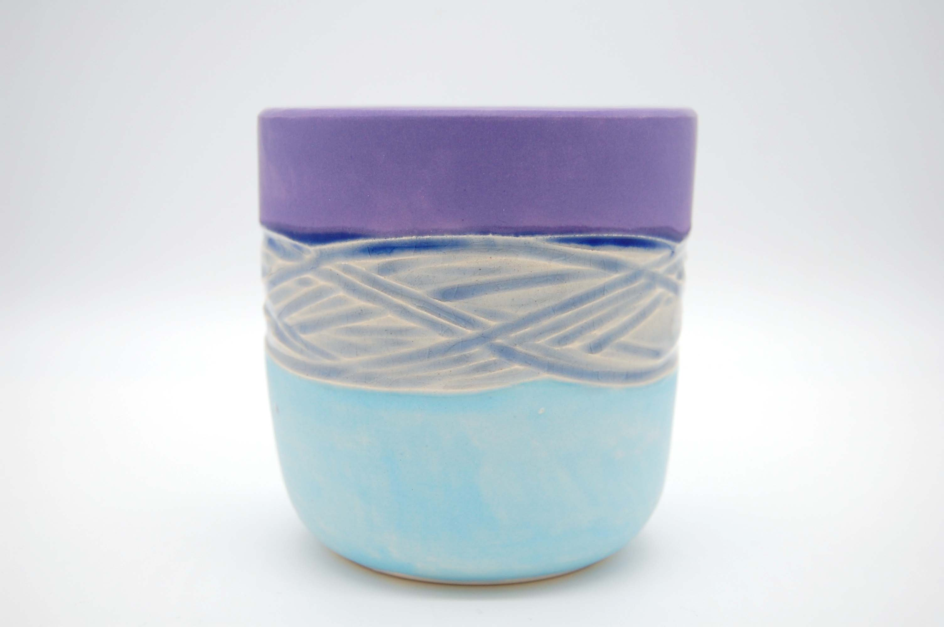 Blue Crackle Glaze